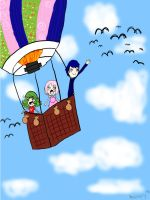 Ballooning With My Buddies by emily-bright