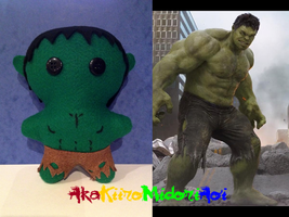 Marvel Plushes: Hulk by AkaKiiroMidoriAoi