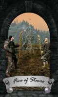 Skyrim Tarot - Five of Staves by Whisper292