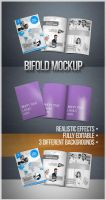BIFOLD BROCHURE REALISTIC MOCKUP by InfiniteCreations