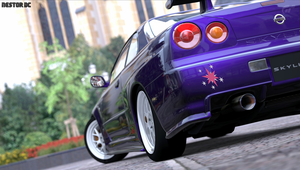 Twilight Sparkle Nissan Skyline R34 GTR cutie mark by nestordc