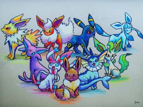 The Eeveelutions by Jaylynessa