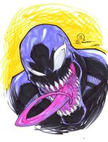 Venom C2E2 head sketch by JoeyVazquez