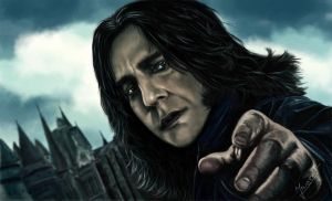 painting Severus Snape by