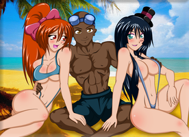 Laura, Will And Mio Summer [Version 2] (Request) by Kurogane-Raziel