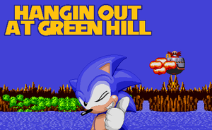 Sonic's Green Hill Selfie by EXEcutor-The-Bat