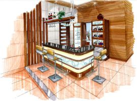 Modern Tropical pantry bar by shinvan