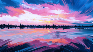 Sky Mirror by Aenami