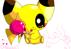 Pikachu loves its lolly by Chaomaster1