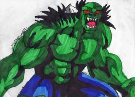 Angry Hulk 2099 by ChahlesXavier