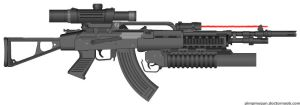 Ak-95 Assault Rifle by Lord-DracoDraconis