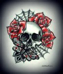 SKULL tattoo design by oldSkullLovebyMW