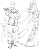 Marth x Zelda by blackwizard1