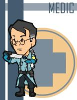 TF2 Chibi Blu Medic by Fir3Ph03n1X