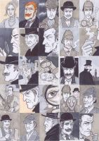 Sherlock Holmes Cards by phymns