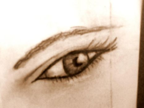First eye sketch by JustGage