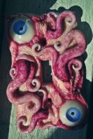 slime tentacle switch plate by dogzillalives