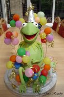 Kermit The Frog Cake by ginas-cakes