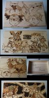 Digimon Box Pyrography by weisewoelfin