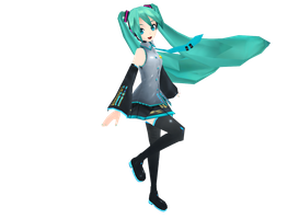 Miku with physical :D by Hanaminasho