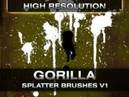Gorilla splatter brushes by analeewon