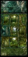 Fairy Trees backgrounds by moonchild-ljilja