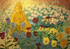 Buddha in the garden by TeresaOstbye