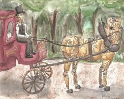 Steampunk Carriage by silvermoon442