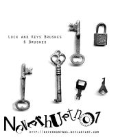 Lock and Keys Brushes by neverhurtno1