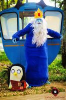 Ice King/ Rey Helado with Gunter (Adventure Time) by eoyaguar