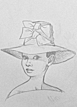 Audrey in Hat by CarriePotter
