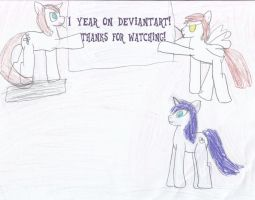 1 year on deviantart! by WoefulWriters