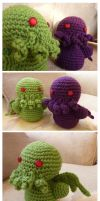 Cthulhu Plushies by zetallis