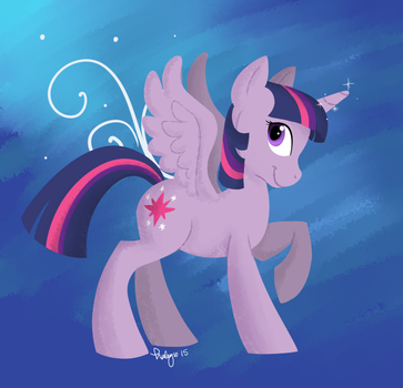 hi I'm Twilight Sparkle by solstjarn