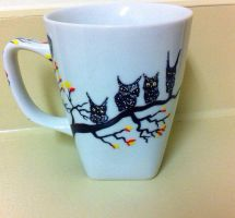 Owl Tree - Handpainted Mug by InkyDreamz