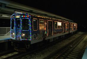 CTA's Holiday Train at Skokie by JamesT4