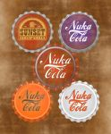 Fallout aged bottle caps by JaggedGenius