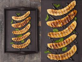 Grilled bananas with honey by slyadnev