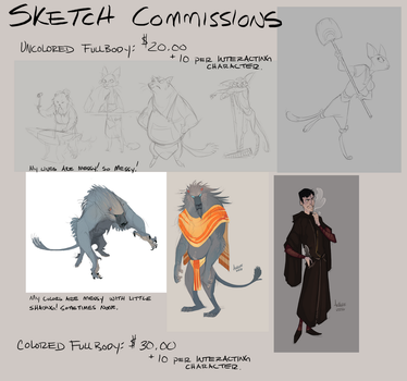 Commission me for a sketch! Closed by GreekCeltic