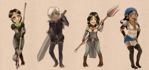 Dragon Age 2 chibies by Mirabel-chan