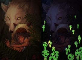 princess mononoke. by jieyi