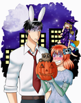 :3rd:CE-There's a tanuki in the pumpkin... by Music-X-Rose