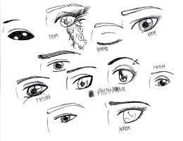 Practice sketches- Eyes by Epic-Fangirl