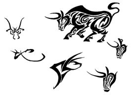 Bull Tattoos by tmac1kobe8vc15