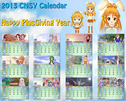 CNSY 2013 Calendar - Happy PlusGiving Year by RJAce1014