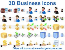 3D Business Icons by Ikont