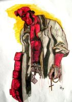 Hellboy Sketch by 2D-Assassin
