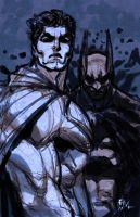 Superman Batman sketch by ErikVonLehmann