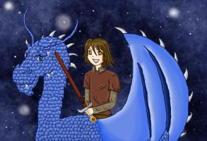 Eragon and Saphira by happygurl1034