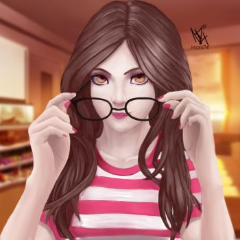 Glasses Girl by Massi74